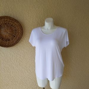Tahari high low shirt white nwt